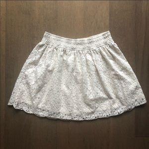 Aritzia Talula White Lace Skirt